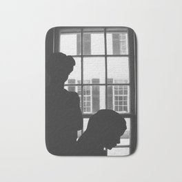 Silhouettes In Window Bath Mat