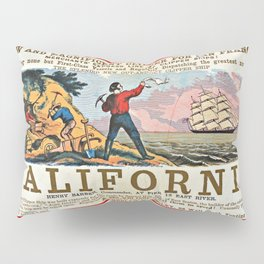 A New and Magnificent Clipper for San Francisco. Merchant's Express Line of Clipper Ships! Pillow Sham