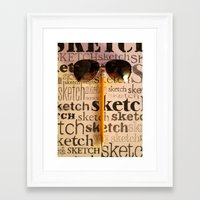 sketch Framed Art Prints featuring Sketch by Rochana Dubey