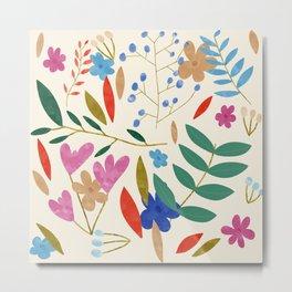 Groundbreaking Florals Metal Print