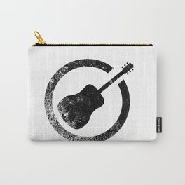 Acoustic Guitar Ink Stamp Carry-All Pouch