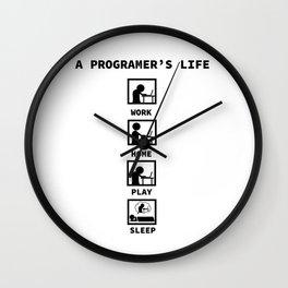 programmer coffee daily rhythm funny gift Wall Clock