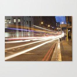 Edinburgh West End light trails Canvas Print