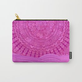Hot Pink Ocean Mandala Carry-All Pouch
