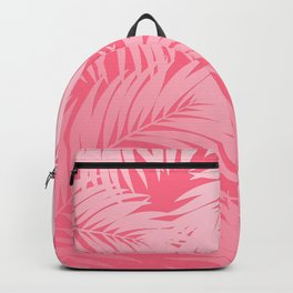 Palm Tree Fronds c'est parfait on pink Hawaii Tropical Décor Backpack