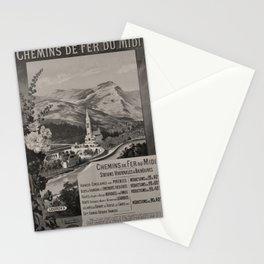 Retro Placard MIDI Chemins de Fer voyage poster Stationery Cards