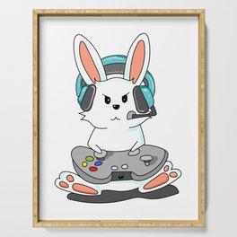 Gaming Bunny Gamer Rabit Headset Gamepad Gift Serving Tray