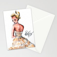 Fashion Watercolor Couture Gown Stationery Cards