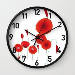 Graceful poppies Wall Clock