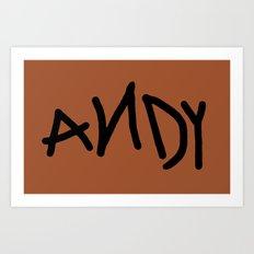 Andy Art Print