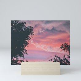 Marbled skies Mini Art Print
