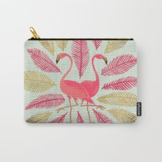Flamingos – Pink & Gold Carry-All Pouch