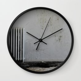 LOST PLACES - pissing radiator Wall Clock