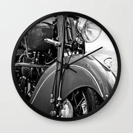 Motorcycle-B&W Wall Clock