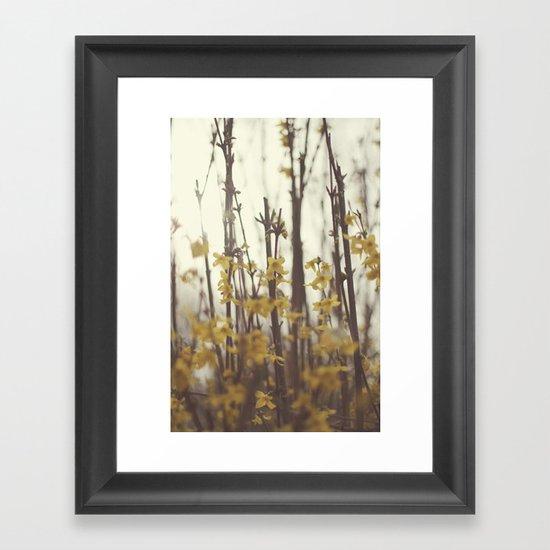 Golden Bells Framed Art Print
