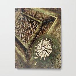 Earth Flower String Metal Print