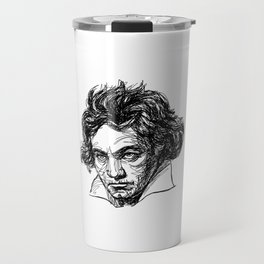 Ludwig Van Beethoven line drawing Travel Mug