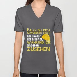 Construction Worker Saying | German Funny Saying Unisex V-Neck