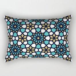 Persian Mosaic – Turquoise & Gold Palette Rectangular Pillow
