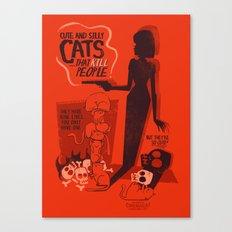 Cat Movie - orange Canvas Print