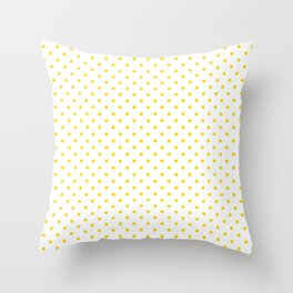 Dots (Gold/White) Throw Pillow