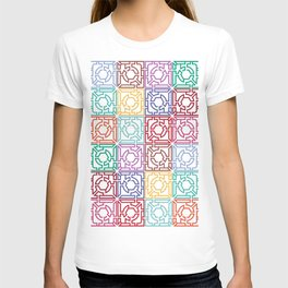 Maze Colorful Seamless Pattern T-shirt