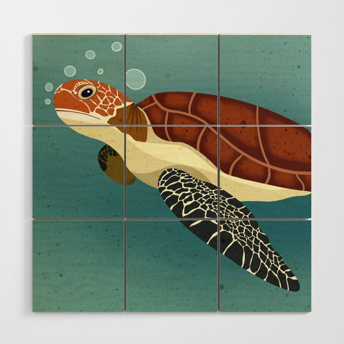 Sea Turtle Wood Wall Art