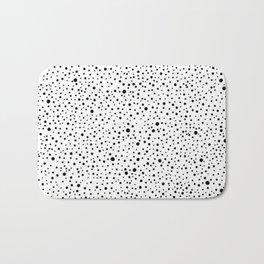 Polka Dots | Black and white pattern Bath Mat