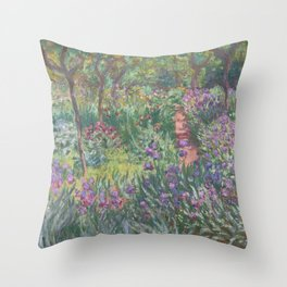 Monet's garden at Giverny Throw Pillow