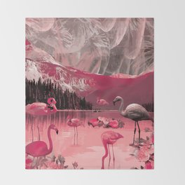 Flamingo Land Throw Blanket