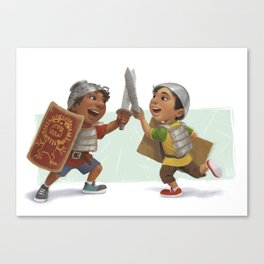Swordfight! Canvas Print
