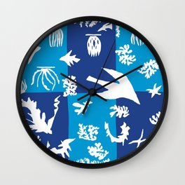 Matisse Cut Out Collage - Seascape Wall Clock