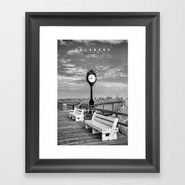 Bethany Beach Delaware. Framed Art Print