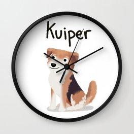 "Custom Dog Art ""Kuiper"" Wall Clock"