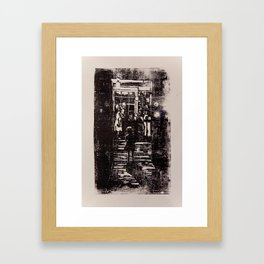 Girl in Doorway Framed Art Print