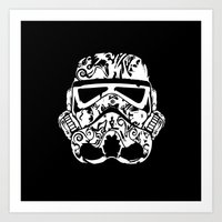 trooper Art Prints featuring Trooper by eARTh