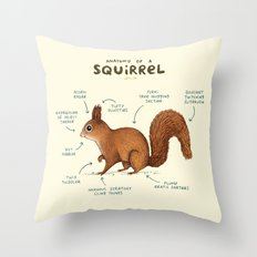 Anatomy of a Squirrel Throw Pillow