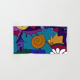 """Before the Celebration"" bold, colorful doodle art Hand & Bath Towel"