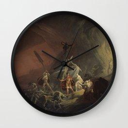Aeneas and the Sibyl Wall Clock