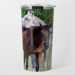 Horse Photobomb Travel Mug