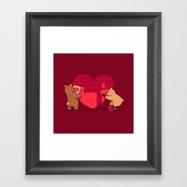 Building Our Love Framed Art Print