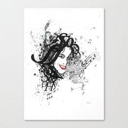 Musician Typographic Portrait Canvas Print