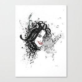 Musician Typographic Portrait Canvas Print