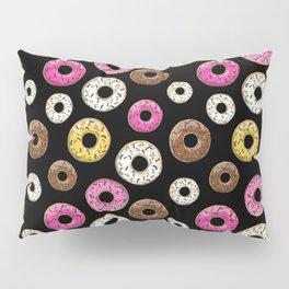 Donut Pattern - Black Pillow Sham