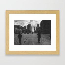 Street time Framed Art Print