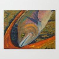 trout Canvas Prints featuring Trout by JSwartzArt