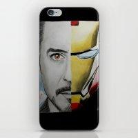 tony stark iPhone & iPod Skins featuring Tony Stark by Goolpia