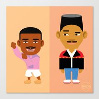 fresh prince Canvas Prints featuring The Fresh Prince by Evan Gaskin