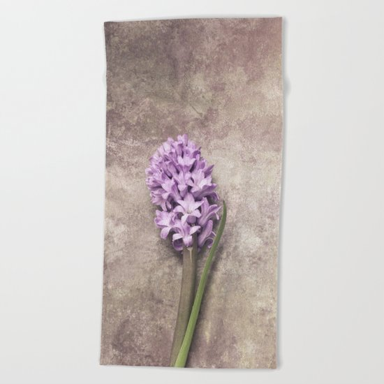 Light Purple Hyacinth Beach Towel