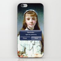patriarchy iPhone & iPod Skins featuring Fight The Patriarchy by Lolita Bandita